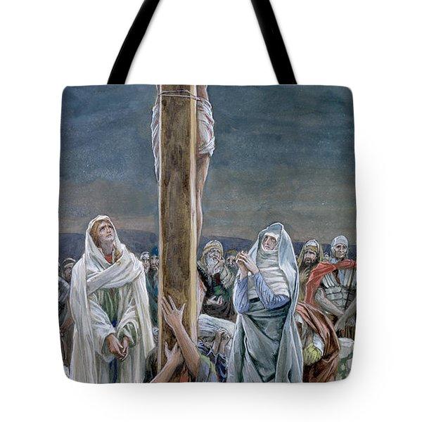 Woman Behold Thy Son Tote Bag by Tissot