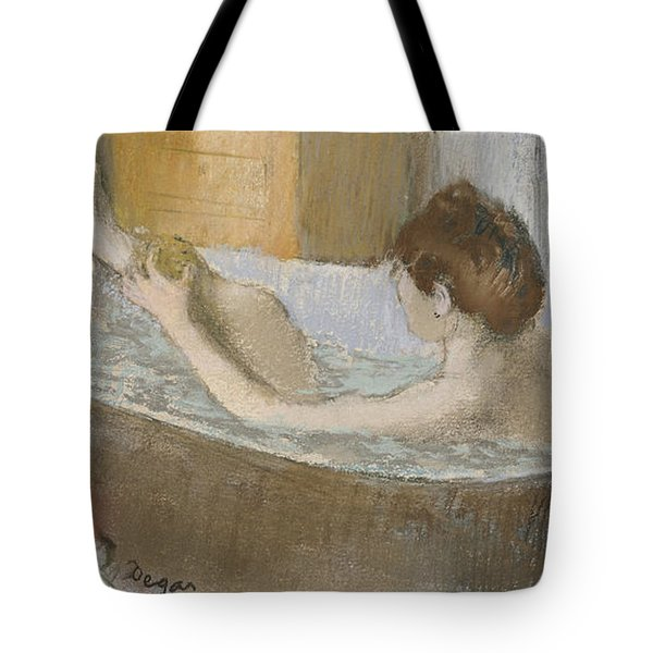 Woman In Her Bath Tote Bag by Edgar Degas