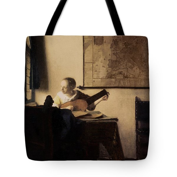Woman With A Lute Tote Bag by Jan Vermeer