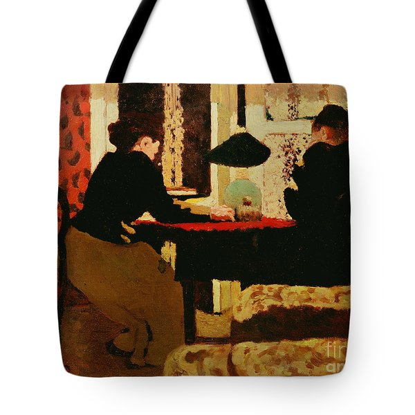 Women By Lamplight Tote Bag by vVuillard