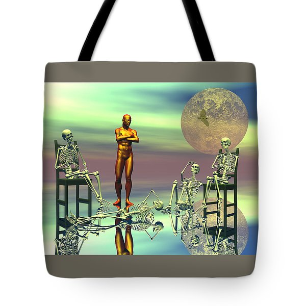 Women Waiting For The Perfect Man Tote Bag by Claude McCoy