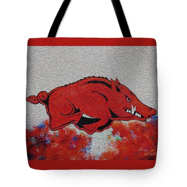 Woo Pig Sooie 2 Tote Bag by Belinda Nagy