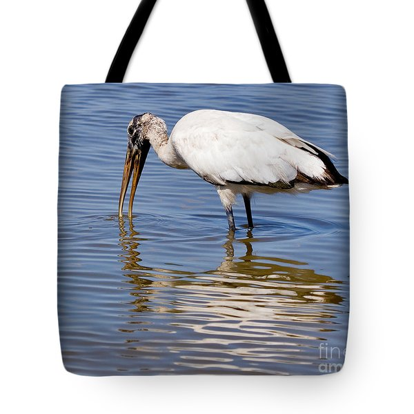 Wood Stork Tote Bag by Louise Heusinkveld