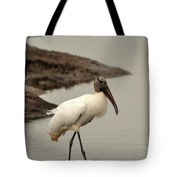 Wood Stork Walking Tote Bag by Al Powell Photography USA