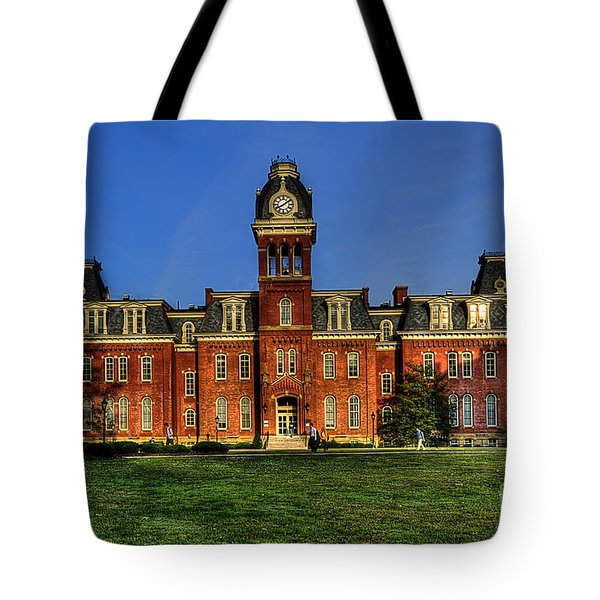 Woodburn Hall in morning Tote Bag by Dan Friend