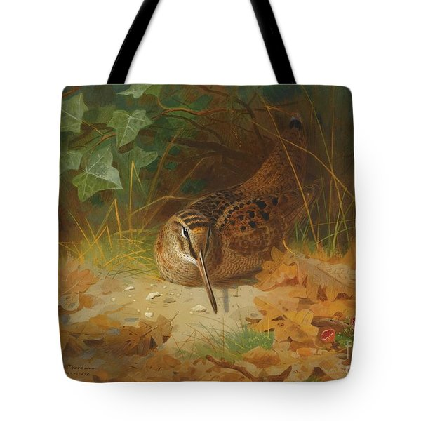 Woodcock Tote Bag by Celestial Images