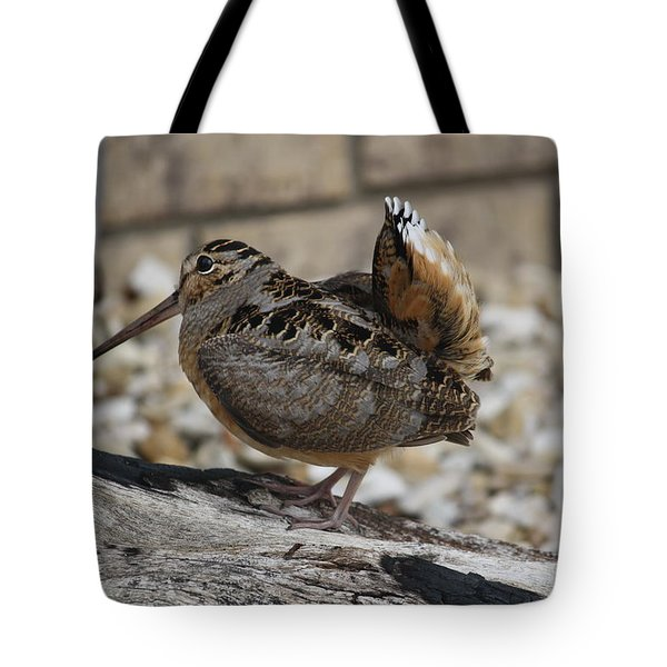 Woodcock Tote Bag by Donna  Smith