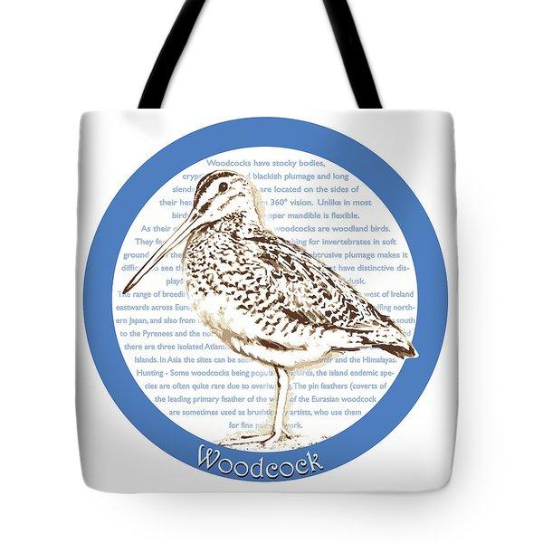 Woodcock Tote Bag by Greg Joens