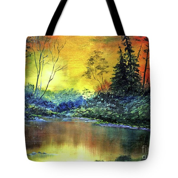 Wooded Serenity Tote Bag by Dee Flouton