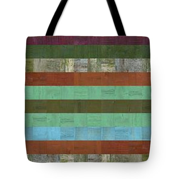 Wooden Abstract X  Tote Bag by Michelle Calkins