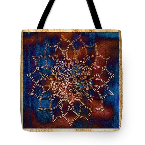 Wooden Mandala Tote Bag by Hakon Soreide