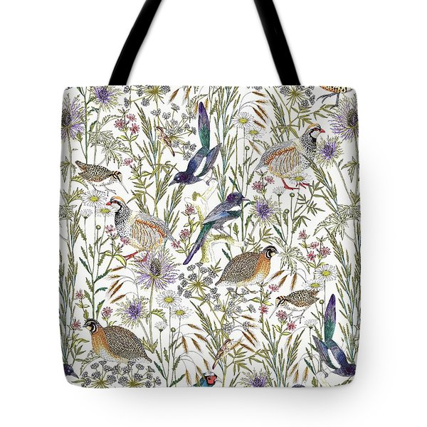 Woodland Edge Birds Tote Bag by Jacqueline Colley
