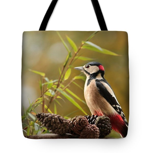 Woodpecker 3 Tote Bag by Heike Hultsch