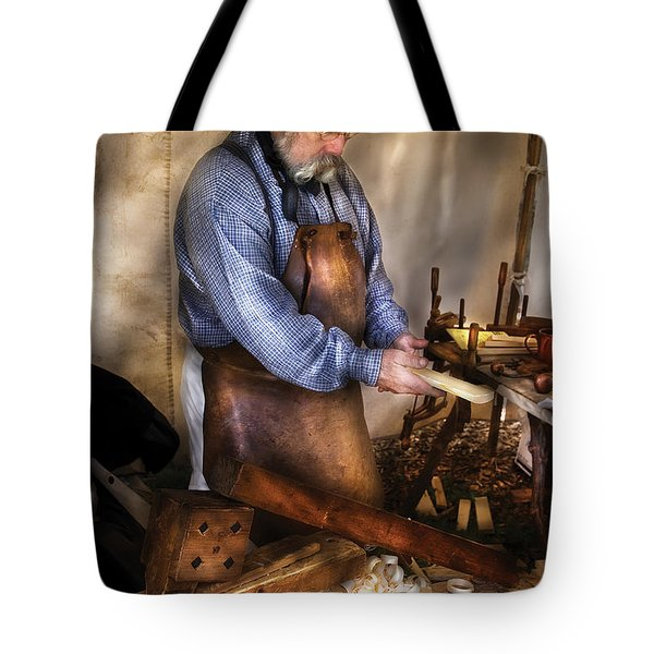 Woodworker - The Carpenter Tote Bag by Mike Savad
