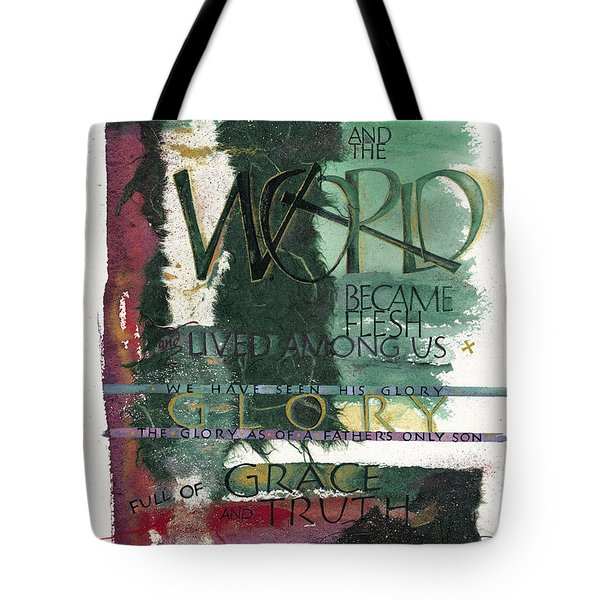 Word Tote Bag by Judy Dodds