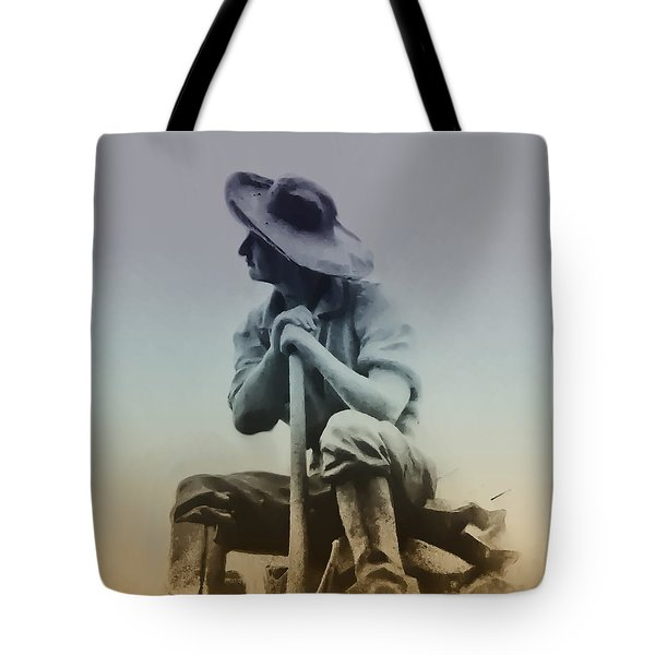 Working Man Tote Bag by Bill Cannon