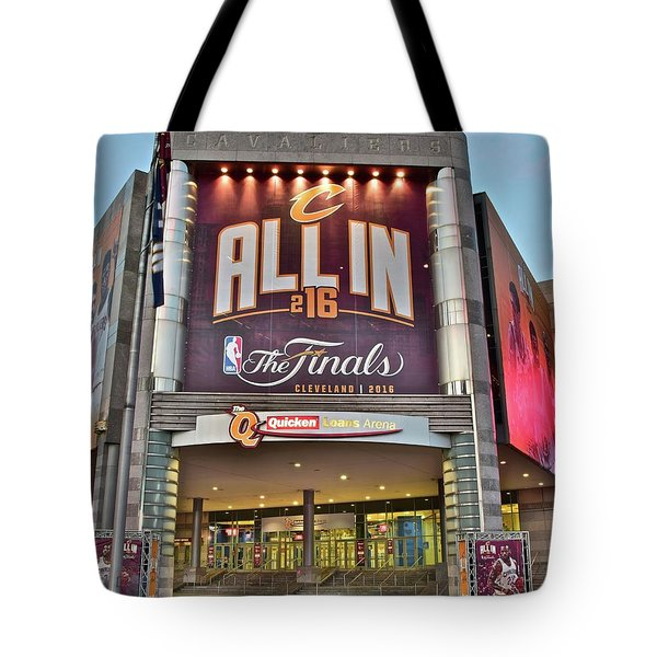 World Champion Cleveland Cavaliers Tote Bag by Frozen in Time Fine Art Photography