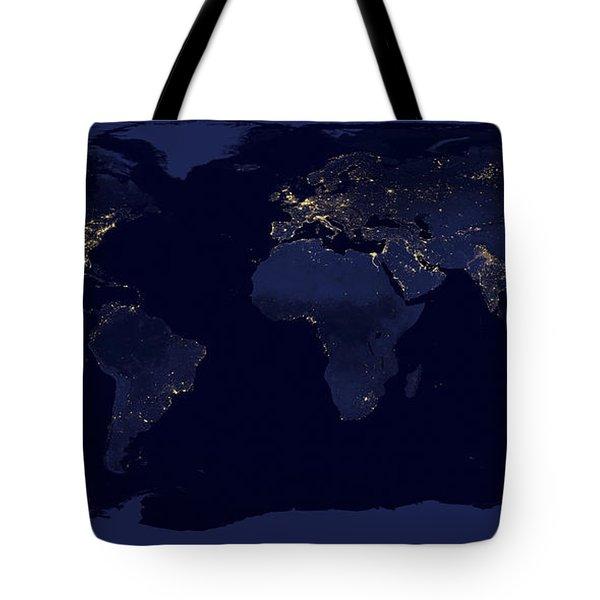 World City Lights Tote Bag by Adam Romanowicz