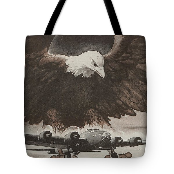 World War II Advertisement Tote Bag by American School