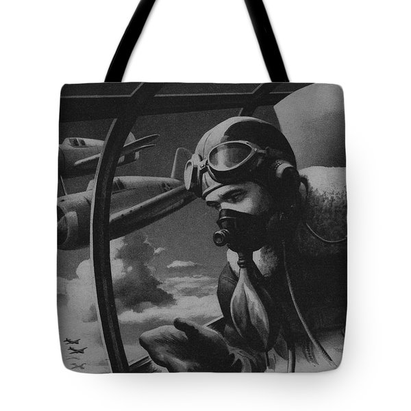 World War II Fighter Pilot Tote Bag by American School
