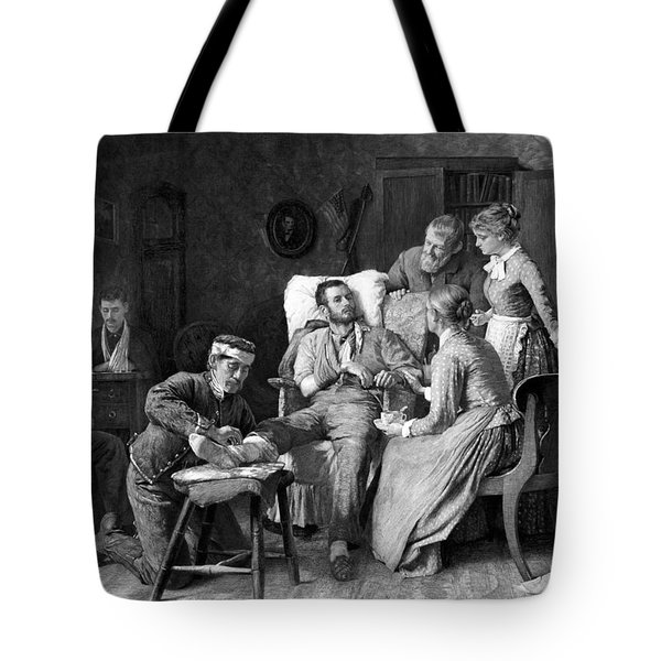 Wounded Soldier At The Battle Of Gettysburg Tote Bag by War Is Hell Store