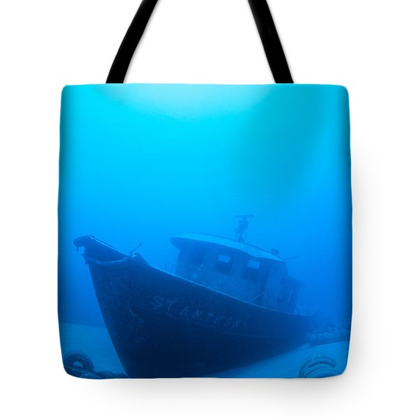 Wreck Of The St. Anthony Tote Bag by Dave Fleetham - Printscapes