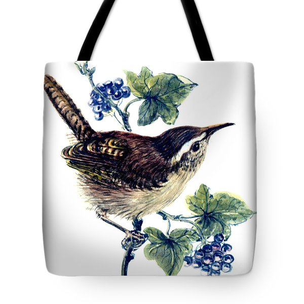 Wren In The Ivy Tote Bag by Nell Hill