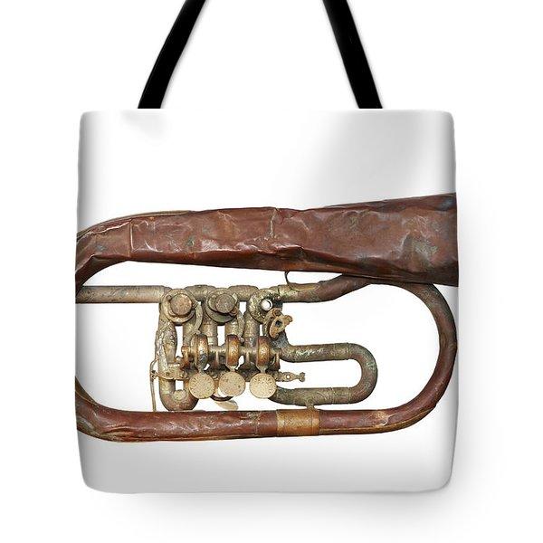 Wrinkled Old Trumpet Tote Bag by Michal Boubin