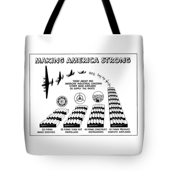 WW2 Airplane Supply Cartoon  Tote Bag by War Is Hell Store