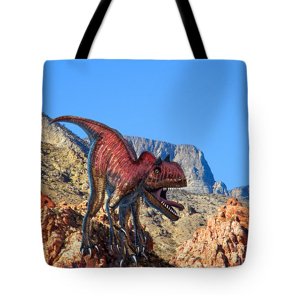 Xuanhanosarus In The Desert Tote Bag by Frank Wilson