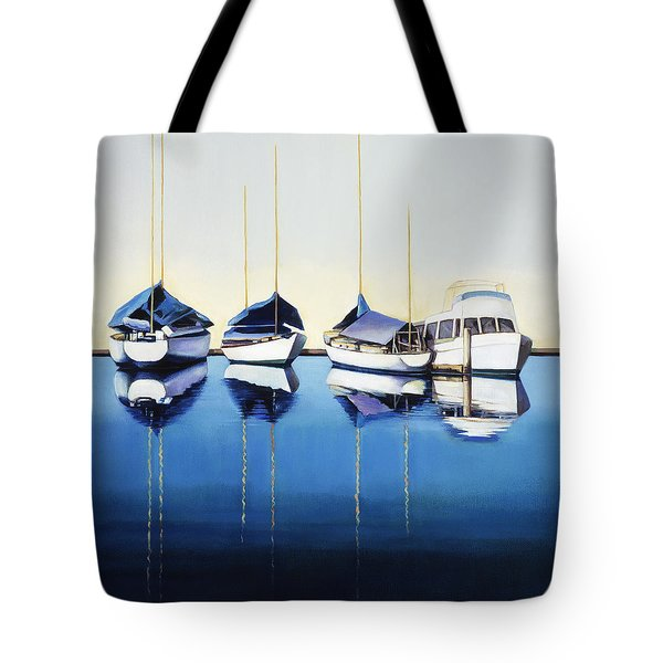 Yacht Harbor Tote Bag by Han Choi - Printscapes