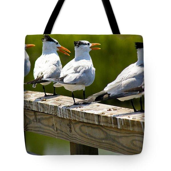 Yackety Yackety Tote Bag by Marilyn Hunt