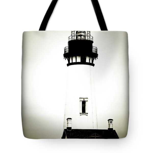 Yaquina Head Light - Haunted Oregon Lighthouse Tote Bag by Christine Till