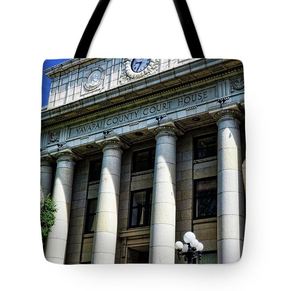 Yavapapi County Court House - Prescott  Tote Bag by Saija  Lehtonen