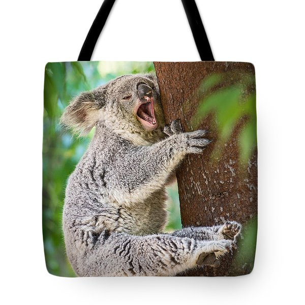 Yawn And Stretch Tote Bag by Jamie Pham