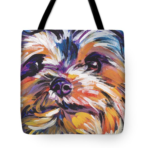 Yay Yorkie Tote Bag by Lea