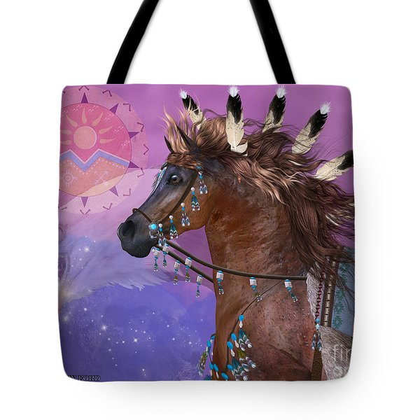 Year Of The Eagle Horse Tote Bag by Corey Ford