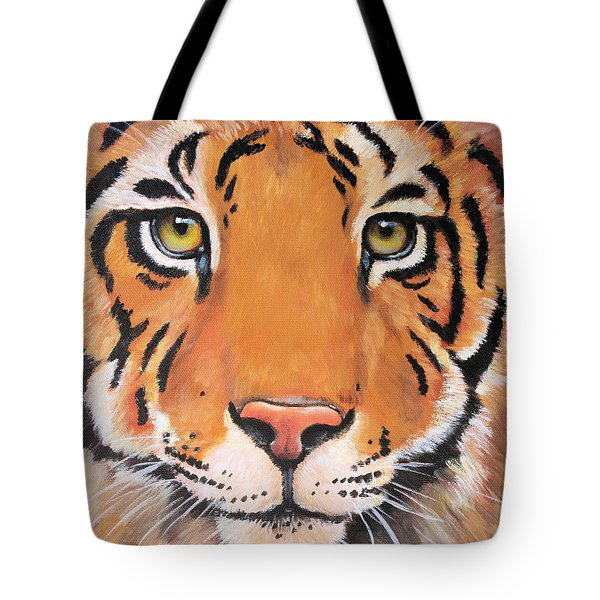 Year of the Tiger Tote Bag by Laura Carey