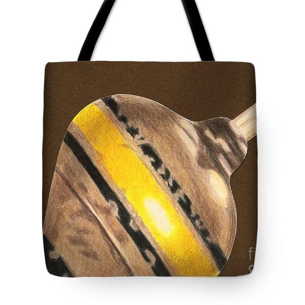 Yellow And Black Top Tote Bag by Glenda Zuckerman