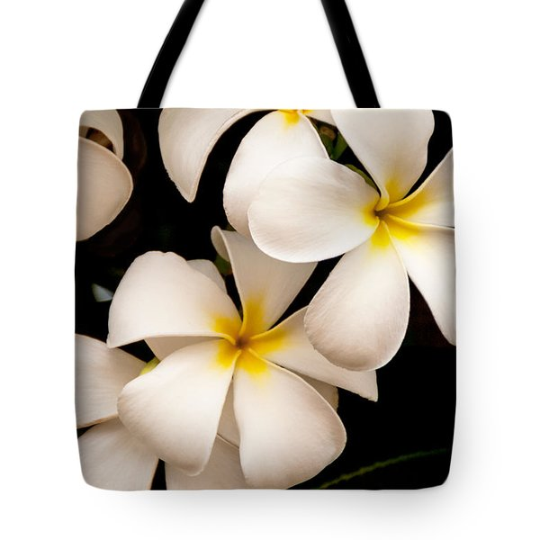Yellow and White Plumeria Tote Bag by Brian Harig