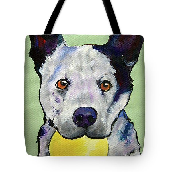 Yellow Ball Tote Bag by Pat Saunders-White