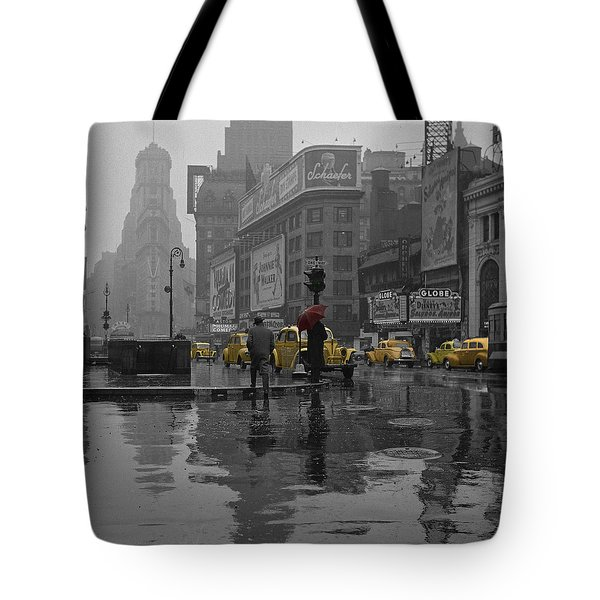 Yellow Cabs New York Tote Bag by Andrew Fare