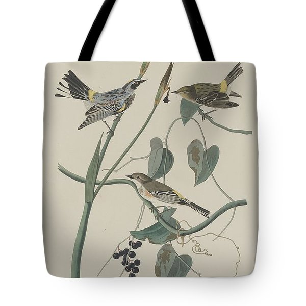 Yellow-crown Warbler Tote Bag by John James Audubon