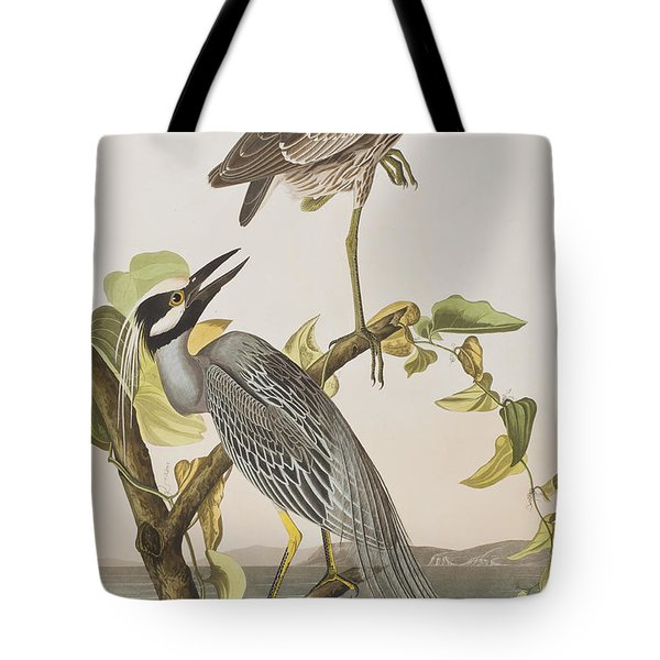 Yellow Crowned Heron Tote Bag by John James Audubon