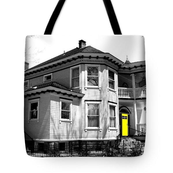 Yellow Door Tote Bag by Will Borden