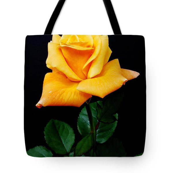 Yellow Rose Tote Bag by Michael Peychich