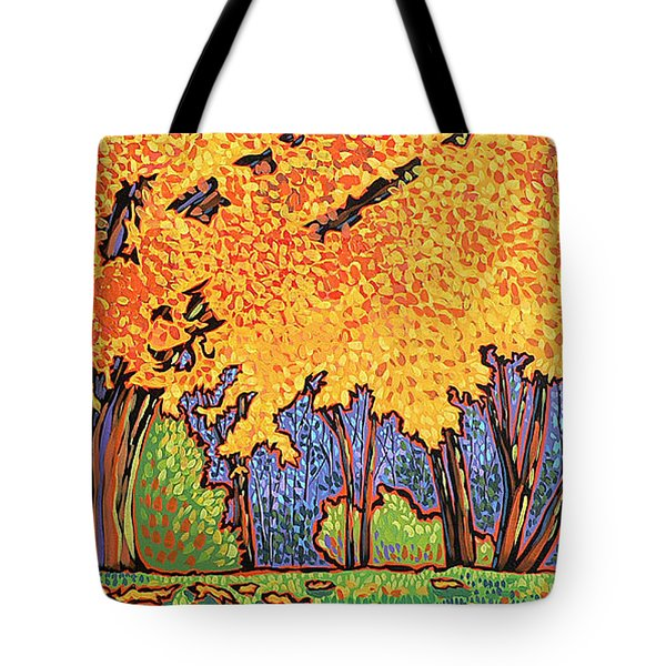 Yellow Tree Tote Bag by Nadi Spencer