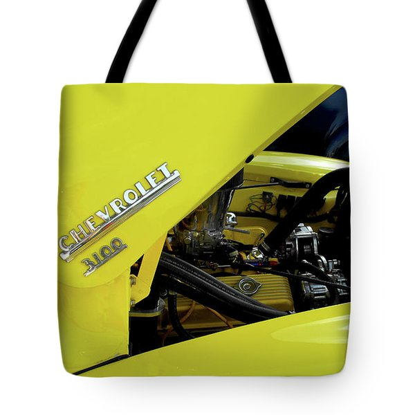 Yellow Truck Tote Bag by Kristie  Bonnewell