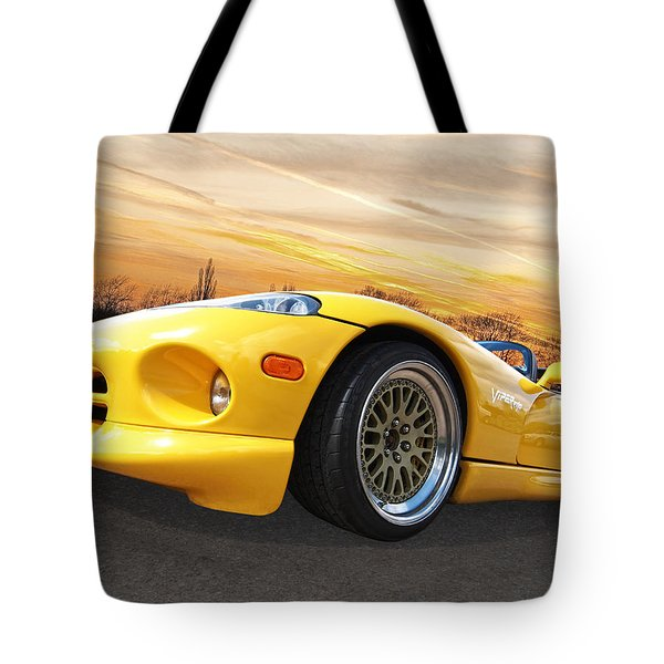 Yellow Viper Rt10 Tote Bag by Gill Billington