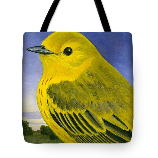 Yellow Warbler Tote Bag by Francois Girard